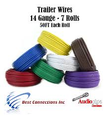 trailer light cable wiring harness 50ft spools 14 gauge 7 wire 7