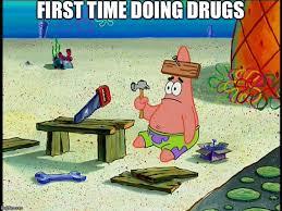 Spongebob Memes Patrick - spongebob patrick nail saw memes imgflip