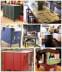 repurposed kitchen island ideas kitchen island ideas decorating and diy projects