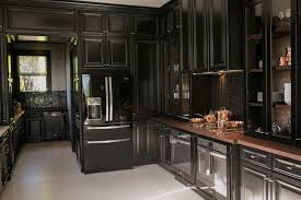 black walnut wood kitchen cabinets black kitchens with wood countertops wood countertop