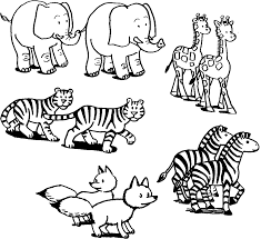 pairs of animals colouring pages with printable doc mcstuffins