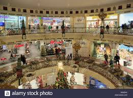 christmas decorations in the forum steglitz shopping centre in