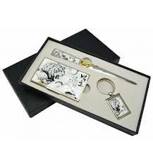 set pour bureau coffret cadeau accessoires de bureau original tigre blanc