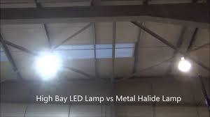 led parking lot lights vs metal halide high bay led l vs metal halide l youtube