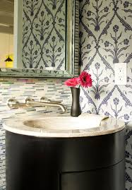 Contemporary Wallpaper For Bathrooms - create a smashing powder room traditional home
