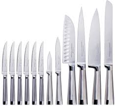 amazon com oneida 13 piece stainless steel performance knife set amazon com oneida 13 piece stainless steel performance knife set with block oneida knives kitchen dining