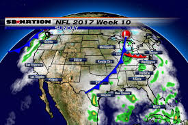 Local Weather Map Nfl Weather Forecast 2017 Week 10 Few Games Feature Rain And