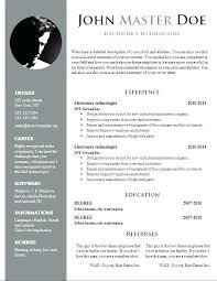 creative resume template free free creative resume template doc templates