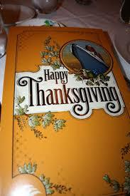 thanksgiving dinner onbaord the disney was so