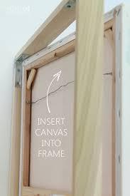 Hanging Canvas Art Without Frame Diy Floating Frame Tutorial For 6 Floating Frame Canvases And