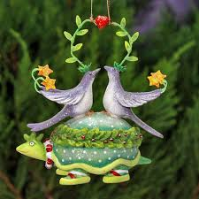 patience brewster two turtle doves ornament