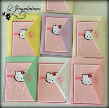 kitty birthday party baby shower invitations jingvitations