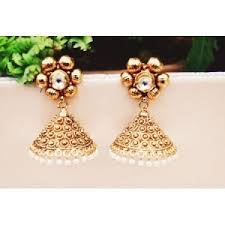 antique gold jhumka earrings jhumkas earrings antique gold flower jhumki earrings online