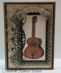 from the rock crafty corner guitar birthday card