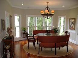 contemporary curved settee for round dining table amazing ideas