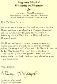 vacation letter template hogwarts acceptance letter template klejonka connor was jumping up and down saying quot is it real is it real quot hogwarts text logo envelopehogwarts acceptance letter template