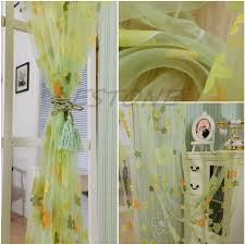 Panel Curtain Room Divider by Aliexpress Com Buy Bellyde New 93cm X 200cm Flower Print Sheer