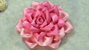 ribbon flowers how to make kanzashi flower ribbon tutorial diy