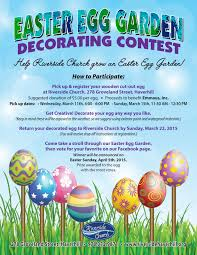 Easter Egg Decorating Contest Rules by Riverside Church To