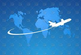 Map International Airplane On A World Map International Airlines Vector Image