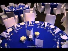 blue centerpieces great royal blue wedding decorations ideas