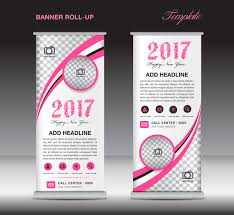 2017 banner roll up flyer stand template vector 07 vector banner