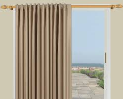Sliding Door Coverings Ideas by Unique Patio Door Drapes Single Panel 46 For Your Balcony Height