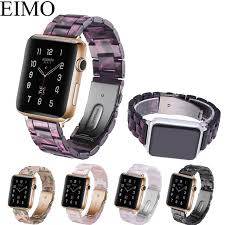 stainless steel buckle bracelet images Eimo resin strap for apple watch band stainless steel buckle jpg