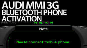 how to activate bluetooth handsfree profile audi mmi 3g a1 a4 a5