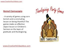youth ideas high energy thanksgiving for youth children