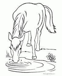 free horse coloring pages to really encourage in coloring images