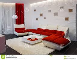 Red Sofa In Living Room by Modern Living Room Interior With Red Sofa Stock Photo Image