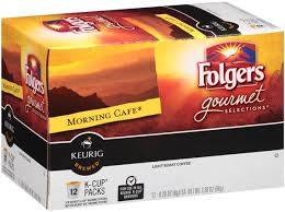 folgers gourmet selections morning cafe light roast coffee k cups