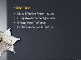 fppt free powerpoint presentation template sheriff powerpoint backgr u2026