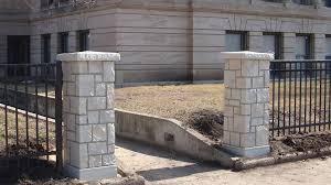 commercial columns midwest fence gate company