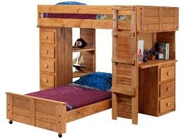 Childrens Bunk Bed With Desk Bedroom Awesome Rustic Size Bunk Bed With Desk And Stairs