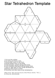 origami star tetrahedron u2013 comot