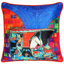 funky taxi poli dupion cushion cover from the exclusive home decor