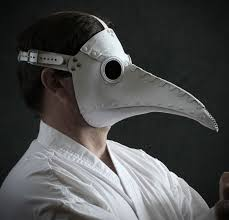 white plague doctor mask plague doctor mask in white leather schnabel