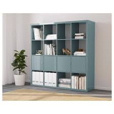 white high gloss bookcase kallax shelving unit with 4 inserts high gloss grey turquoise