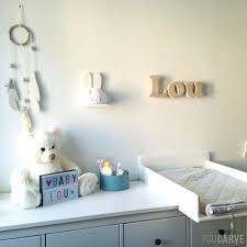 lettres décoratives chambre bébé lettre chambre bebe lettre prenom chambre bebe 3 plaques de porte