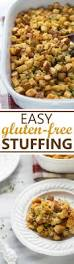 easy stuffing recipes for thanksgiving easy gluten free stuffing dairy free meaningful eats