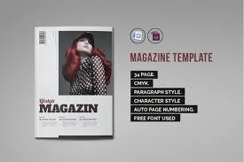 indesign magazine template 1 magazine templates creative market