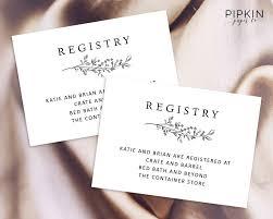 registry wedding free card wedding registry card template