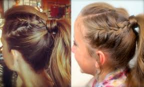 double frenchbacks into high pony cute ponytail ideas cute