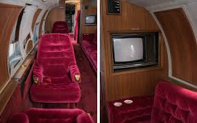 elvis plane elvis private jet is up for auction and it comes with red velvet