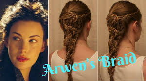 celtic warrior hair braids lord of the rings inspired arwen s braid youtube