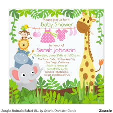 designs cheap baby shower invitations jungle theme with blank
