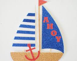 sailboat cake topper boat cake topper etsy