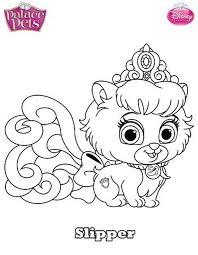 pets coloring page kids n fun com coloring page princess palace pets slipper